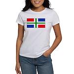Groningen Gronings Blank Flag Women's T-Shirt