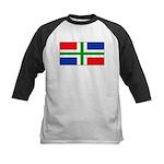 Groningen Gronings Blank Flag Kids Baseball Jersey