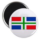 Groningen Gronings Blank Flag Magnet