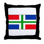 Groningen Gronings Blank Flag Throw Pillow