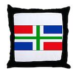 Groningen Gronings Blank Flag Throw Pillow