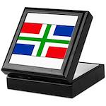 Groningen Gronings Blank Flag Keepsake Box
