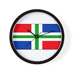 Groningen Gronings Blank Flag Wall Clock