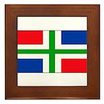Groningen Gronings Blank Flag Framed Tile