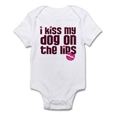 Kiss Dog Lips Infant Bodysuit