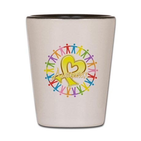 Sarcoma Unite in Awareness Shot Glass