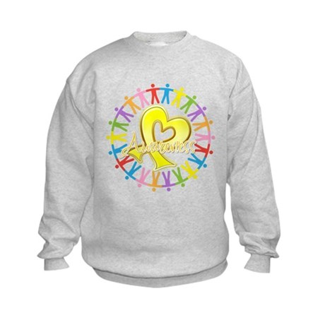 Sarcoma Unite in Awareness Kids Sweatshirt