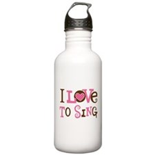 I Love To Sing Water Bottle