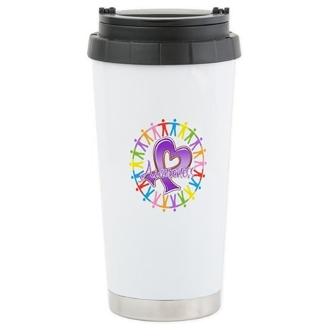 Sarcoidosis Unite in Awarenes Ceramic Travel Mug