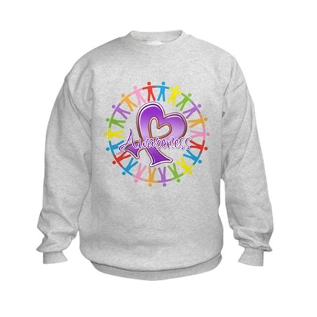 Sarcoidosis Unite in Awarenes Kids Sweatshirt