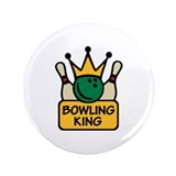 "Bowling King 3.5"" Button"