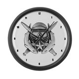 Funny Combat dive supervisor Large Wall Clock