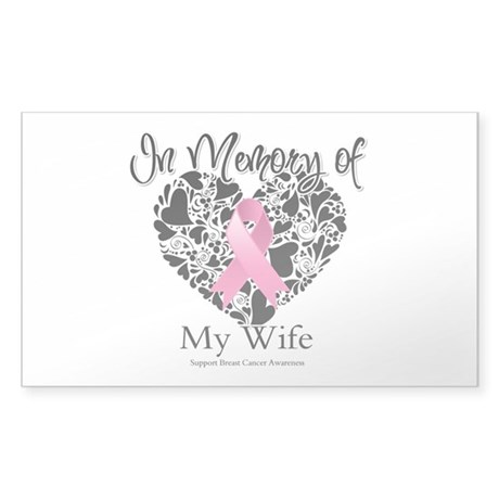 In Memory of My Wife Sticker (Rectangle)