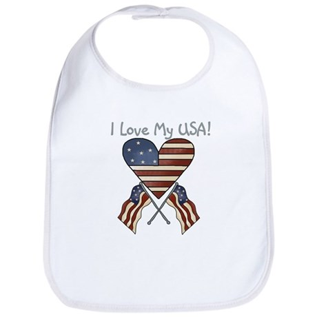 I Love My USA Bib