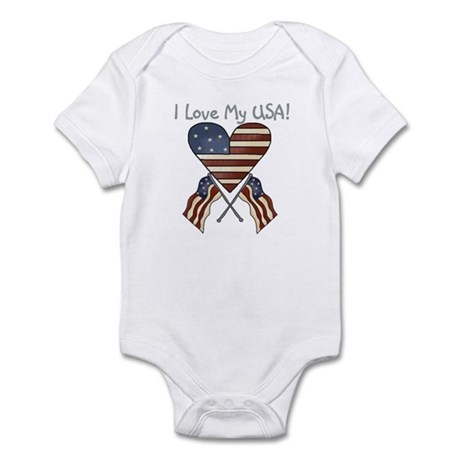 I Love My USA Infant Creeper