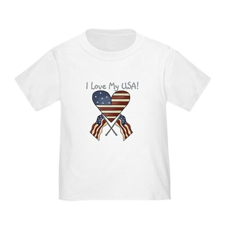 I Love My USA Toddler T-Shirt