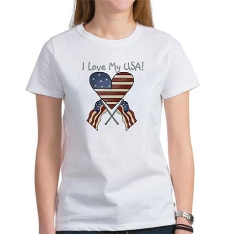 I Love My USA Women's T-Shirt