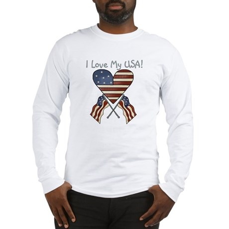 I Love My USA Long Sleeve T-Shirt