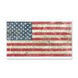 Vintage USA Flag Car Magnet 20 x 12