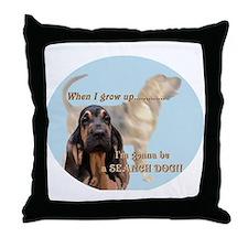 bloodhound puppy Throw Pillow