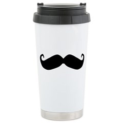 Mr.Moustachio Ceramic Travel Mug