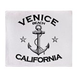 Venice Beach, California Throw Blanket