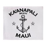 Ka'anapali Beach, Maui Throw Blanket