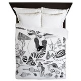 Solomon Shells Queen Duvet by Christina Gower