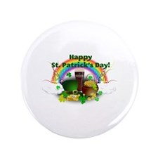 "Happy Saint Patrick's Day 3.5"" Button (100 pack)"