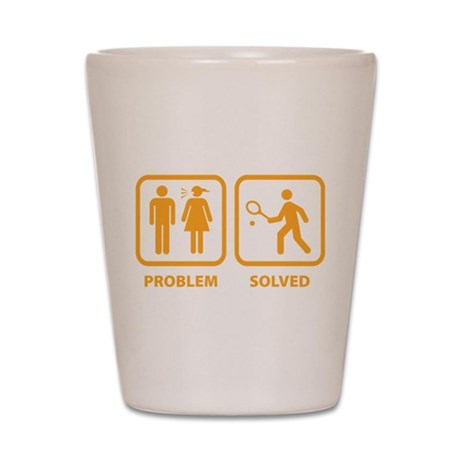 Problem Solved Tennis Shot Glass