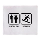 Problem Solved Snowboarding Throw Blanket