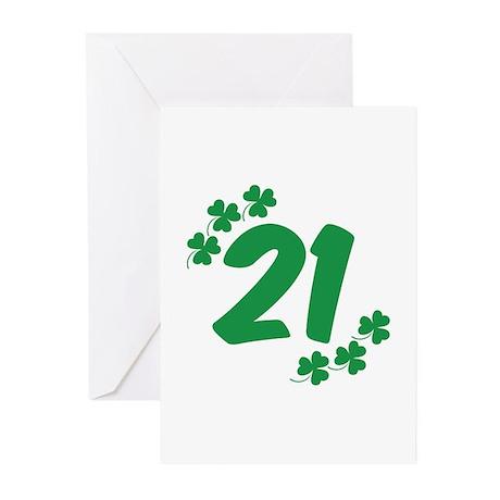 21st Irish Birthday Greeting Cards (Pk of 10)