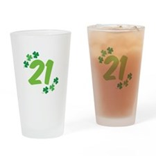 21st Irish Birthday Drinking Glass