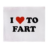I Love To Fart Throw Blanket