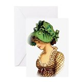Green Bonnet Greeting Card