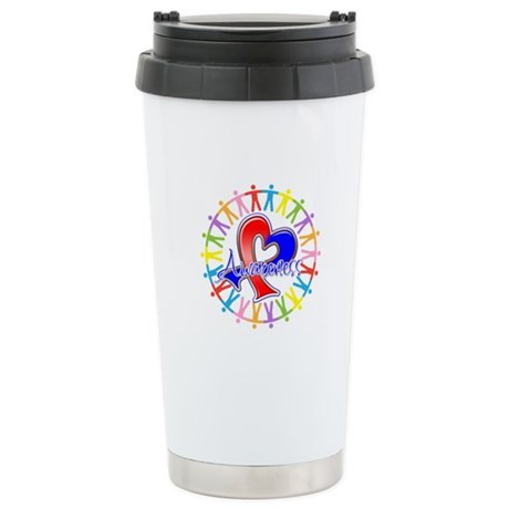Pulmonary Fibrosis Unite Ceramic Travel Mug