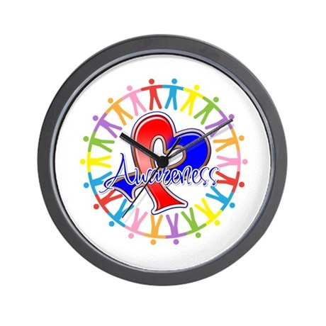 Pulmonary Fibrosis Unite Wall Clock
