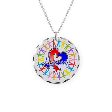 Pulmonary Fibrosis Unite Necklace Circle Charm