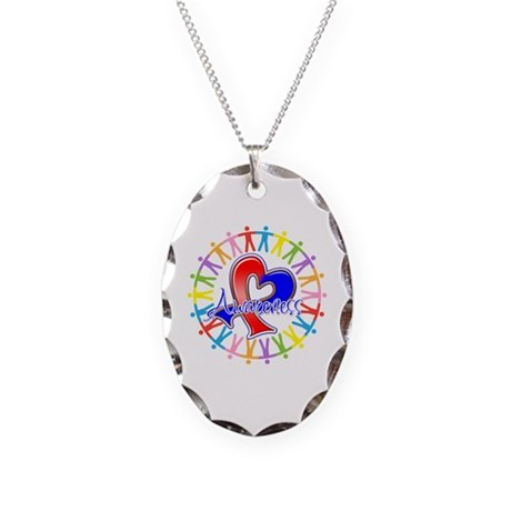 Pulmonary Fibrosis Unite Necklace Oval Charm