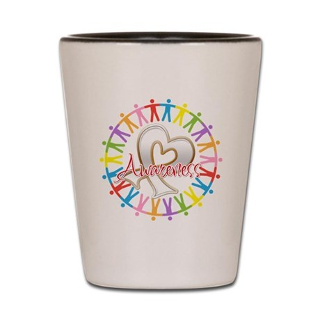 Retinoblastoma Unite Shot Glass