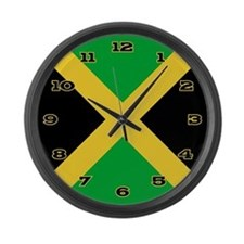 Jamaica Flag Large Wall Clock