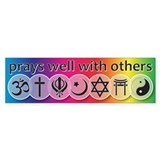Prays Well With Others Bumper Stickers