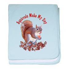 Squirrel Day baby blanket
