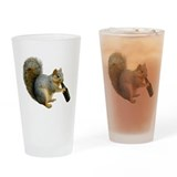 Squirrel Beer Drinking Glass