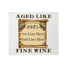 Fine Wine 1975 Throw Blanket