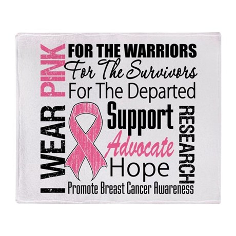 Pink Ribbon Tribute Throw Blanket
