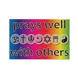 Prays Well With Others Rectangle Magnet