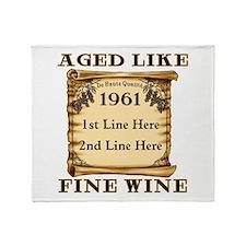 Fine Wine 1961 Throw Blanket