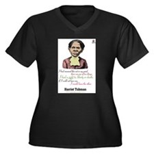 Unique Harriet tubman Women's Plus Size V-Neck Dark T-Shirt