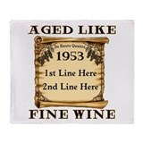 Fine Wine 1953 Throw Blanket